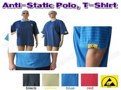 เสื้อโปโลและเสื้อยืดป้องกันไฟฟ้าสถิตย์
